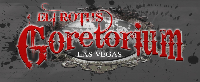 A preview logo for Eli Roth's GORETORIUM, an original haunted attraction opening in Las Vegas this September