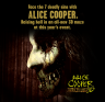 Promo art for Alice Cooper Goes to Hell 3D maze at Universal Hollywood's Halloween Horror Nights 2012
