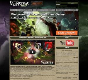 Join the closed beta testing for Universal Monsters Online web browser game