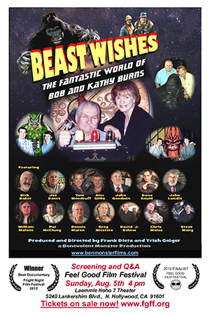 BEAST WISHES DVD cover and Feel Good Film Festival poster for August 5th screening
