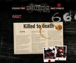 Eli Roth's GORETORIUM website and teaser promo is now alive online!