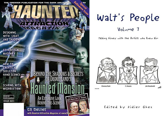 X Atencio interview appearing in Haunted Attraction magazine and Walt's People Volume 7