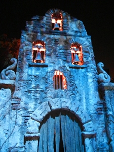 LA LLORONA maze facade at Universal Hollywood's Halloween Horror Nights 2011