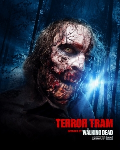 Terror Tram: Invaded by The Walking Dead is the backlot tour theme at Universal Hollywood's Halloween Horror Nights event this year