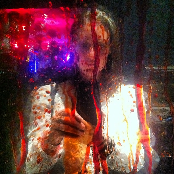 Even freshening up in the restrooms is a blood-curdling experience at Eli Roth's GORETORIUM.