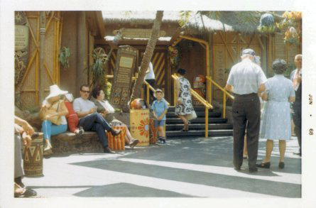 Scott Weitz outside the Enchanted Tiki Room in June 1968. Yes, I am wearing a pith helmet.