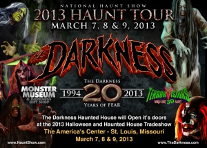 The Darkness haunt in St. Louis celebrates 20 years of fear with special haunt tour events for Transworld 2013