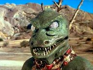 "Bobby Clark as the Gorn in one of STAR TREK's most popular episodes ""Arena."""