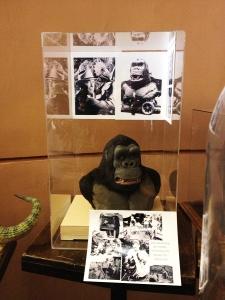 Small recreation bust of the full-size Kong figure made to tour with KING KONG's theatrical run in 1933, along with vintage photos