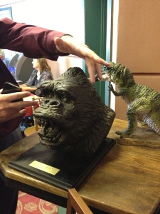 Another excellent sculpture bust of Kong's head on display at the Pomona Fox theater event