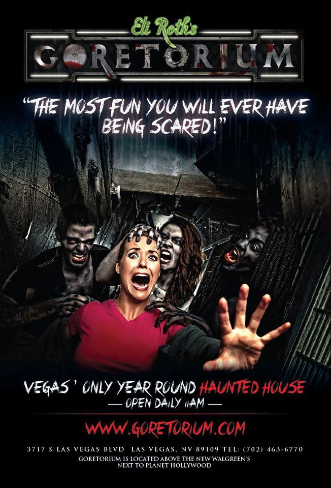 New 2013 poster for ELI ROTH'S GORETORIUM haunt attraction in Las Vegas