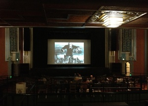 A view inside the vintage style Pomona Fox theater hosting this weekend's KING KONG 80th Anniversary screening event