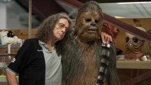 Peter Mayhew poses with his hairy alter-ego in the STAR WARS universe.