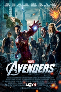 One sheet poster for THE AVENGERS. © 2011 MVLFFLLC. TM & © 2011 Marvel. All Rights Reserved.