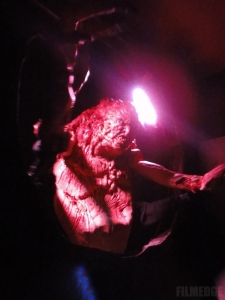 One of ADI's THING creature designs attacks Halloween Horror Nights fans in the flesh during Universal's 2011 Halloween season.