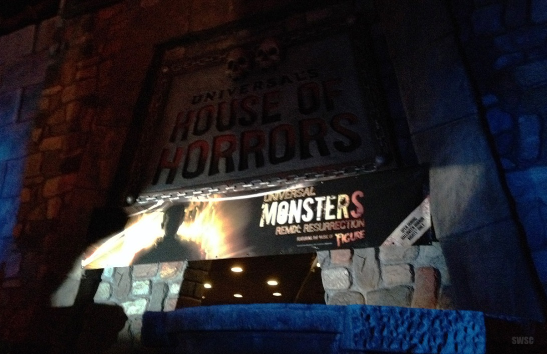 Classic movie creatures dub step up for a second year of danse macabre in UNIVERSAL MONSTERS REMIX: RESURRECTION at Halloween Horror Nights 2013. Photo © Scott Weitz. All rights reserved.